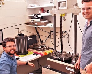 2 Andrew And Michael With Our Triaxial Equipment