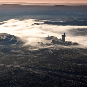 PROJECT 14 - Aitik in Sweden - Overview when pit is full of fog (Photo thanks to Boliden Minerals press page http://www.boliden.com/ )