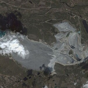 PROJECT 14 - Aitik in Sweden - Aerial view 2004 (Photo Copyright to Google Earth)