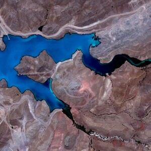 PROJECT 23 - Shur River Dam, Sar Cheshmeh Mine in Iran - Aerial view (Photo Copyright to Google Earth)