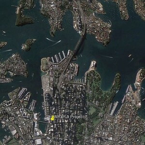 PROJECT 07 - Wharf 9 on the foreshore of Sydney Harbour - Aerial View (Photo Copyright to Google Earth)