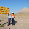 PROJECT 21 - Sar Cheshmeh Mine in Iran - ATC Williams staff with a sign proudly bearing our name
