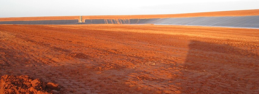 PROJECT 03 - WRP Mine in Ouyen - The inside of the tailings dam during construction