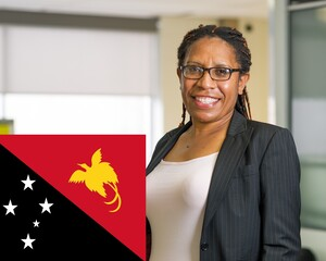 E News Tinah Kelly With Flag
